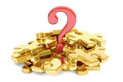 Question mark puzzle concept, 3D rendering Royalty Free Stock Image