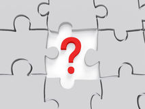 Question Mark puzzle Concept Graphic Stock Photography