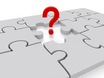 Question Mark puzzle Concept Graphic Royalty Free Stock Photography