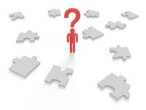 Question Mark puzzle Concept Graphic Stock Photo