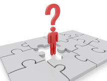 Question Mark puzzle Concept Graphic Stock Image