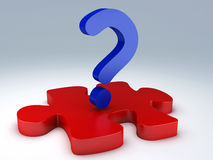 Question Mark puzzle. Concept Graphic Royalty Free Stock Images