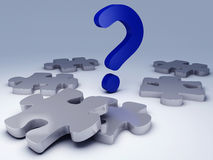 Question Mark puzzle. Concept Graphic Royalty Free Stock Image