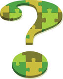 Question mark in puzzle Stock Photo