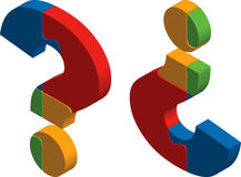 Question mark puzzle Stock Photography
