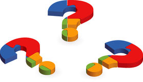 Question mark puzzle Stock Image