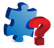 Question mark puzzle piece Stock Images