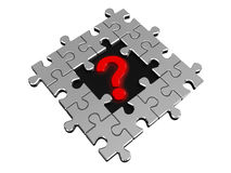 Question mark in puzzle Stock Image