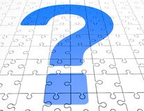 Question mark on puzzles background Stock Photos