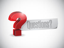 Question mark question illustration design Royalty Free Stock Images
