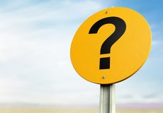 Question mark. Road sign sign marketing direction the future futuristic stock images