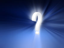 Question mark radiant background Stock Photo