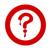 Question mark red bloody Royalty Free Stock Image