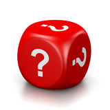 Question Mark Red Dice Royalty Free Stock Photo
