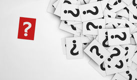 Question Mark Red Paper Photo stock