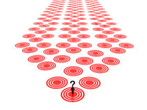 Question mark with red targets Royalty Free Stock Photos
