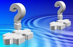 Question mark ripples stock illustration