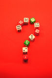 Question mark. Risk and cognition stock images
