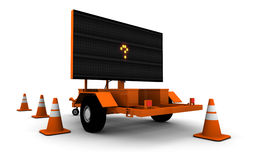 Question Mark on Road Work Sign (Small) Stock Images
