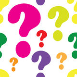 Question Mark Seamless Royalty Free Stock Photo