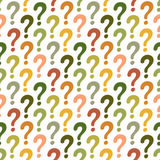 Question mark seamless pattern. Vector abstract background Royalty Free Stock Images