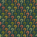Question mark seamless pattern. Vector abstract background Stock Photo