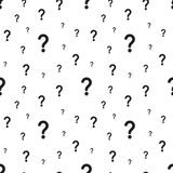 The question mark seamless pattern. Vector illustration royalty free illustration
