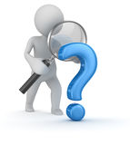 Question mark search Stock Images