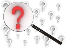Question mark searching concept Stock Photos