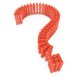 Question mark shape from exclamation marks Royalty Free Stock Photo