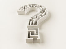 Question Mark Maze Stock Photography