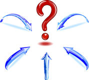 Question mark with shooters. Stock Images