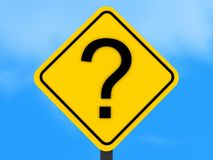 Question mark sign royalty free illustration
