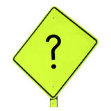 Question Mark Sign. People need answers to all kinds of questions.  Use this sign to illustrate  your message.  Often times, communication can only begin with a Royalty Free Stock Photo