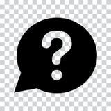 Question mark sign in black speech balloon. Help icon. Vector illustration vector illustration