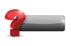 Question mark sign button illustration design Royalty Free Stock Photography