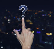 Question mark sign icon Stock Photography
