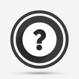 Question mark sign icon. Help symbol. stock illustration