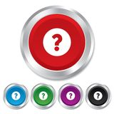 Question mark sign icon. Help symbol. Royalty Free Stock Images