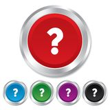 Question mark sign icon. Help symbol. Royalty Free Stock Photo