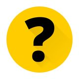 Question mark sign icon with shadow. Simple flat Question mark sign icon with shadow Stock Images