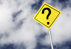 Question mark sign Stock Photos