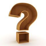 Question mark sign. Over white background Royalty Free Stock Photography