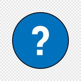 Question mark sign. Icon isolated on transparent background Royalty Free Stock Image