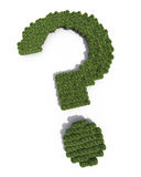 Question mark sign shaped trees Royalty Free Stock Photo
