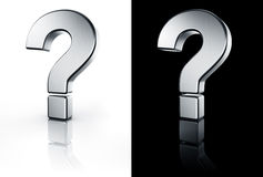 Question mark sign on white and black floor Royalty Free Stock Photos