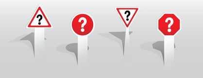 Question mark signs royalty free illustration