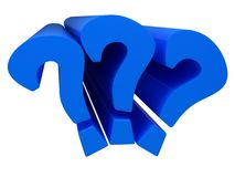 Question mark signs Stock Image