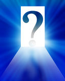 Question mark silhouette Royalty Free Stock Photography
