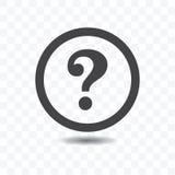 Question Mark Silhouette Icon. Stock Photos